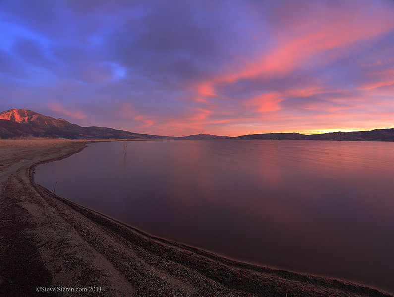 Washoe Lake State Park at sunrise, Nevada