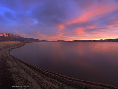 Washoe Lake State Park at sunrise, Nevada