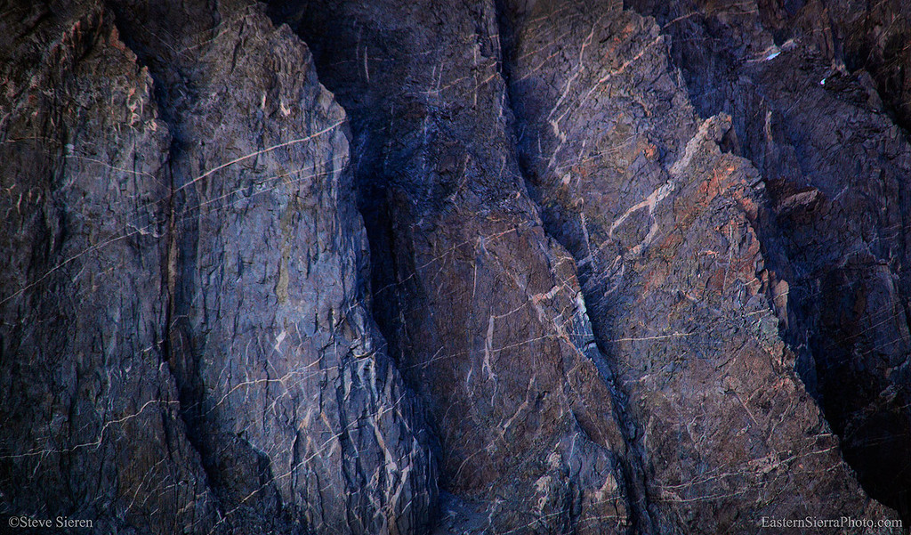 Palisades detail in the Eastern Sierra and Kings Canyon National Park.