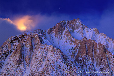 Moon Setting on Lone Pine Peak from the Alabama Hills in 2011 The largest moon in the last 18 years. Eastern Sierra