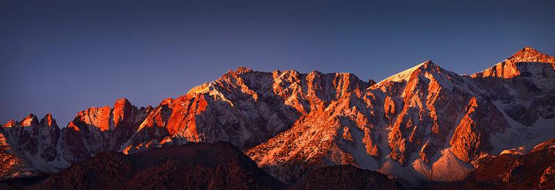 Mt Emerson and the Piute Crags Eastern Sierra Nevada Range, California
