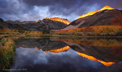 Storm Light of Autumn Panoramic North Lake, Eastern Sierra Nevada Range California