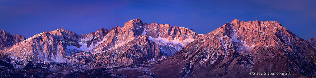 Mt Humpreys and Basin Mountain, Eastern Sierra Panoramic
