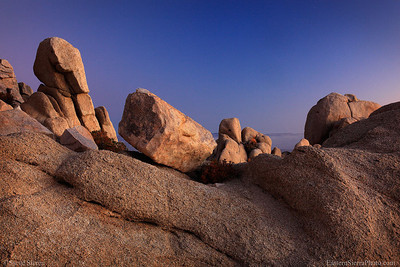 Rock formations on the summit of Five Fingers Peak in the Southern Sierra Nevada.