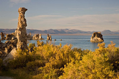 Setting sun on Tufa
