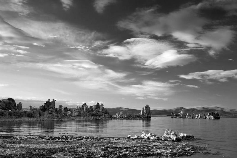Mono Lake in Black and White