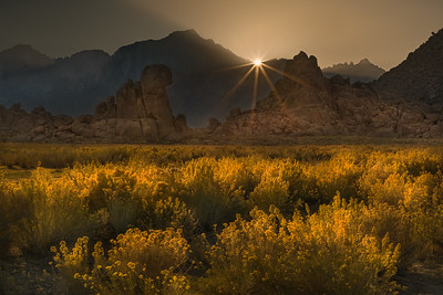 Sunset over Alabama Hills