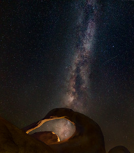 Nightscape over Mobius Arch