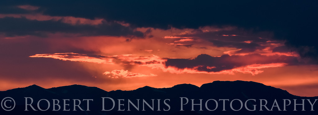 Eastern Sierra sunset from Bristlecone drive viewpoint