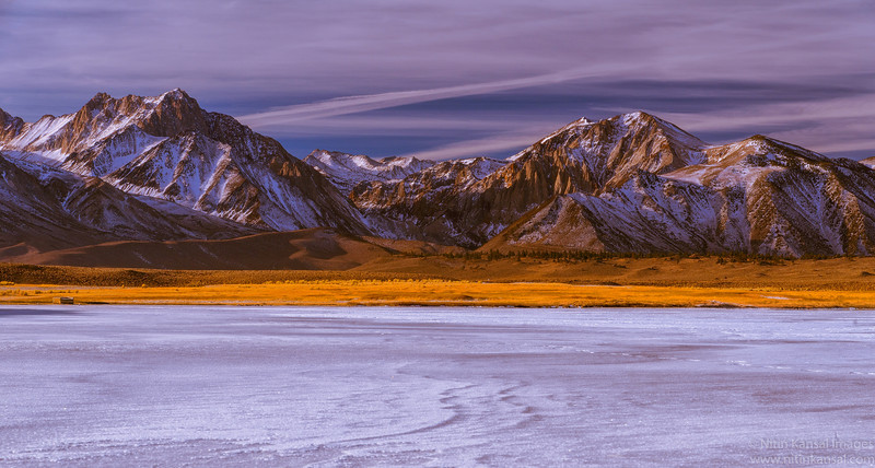 Winter blues - Frozen Lake, Eastern Sierra, California