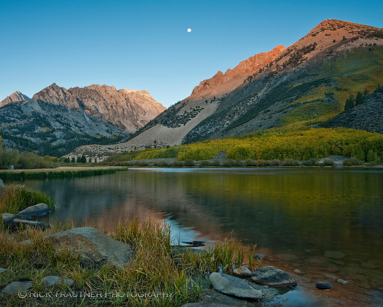 North Lake sunrise moonset