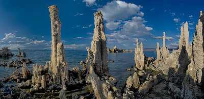 Another 8-image panorama, this one standing a little nearer the water and a little closer to the nearby tufa.