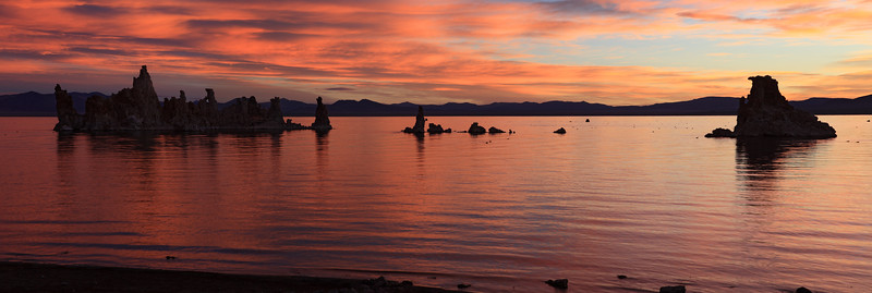 Sunrise Colors Panorama, Mono Lake
