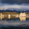 Mono Lake after Sierra snowstorm