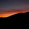 Sunset with crescent moon, Eastern Sierra Nevada