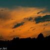 Lenticular cloud at sunrise