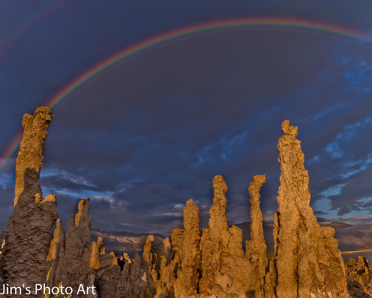 Double rainbow at sunrise