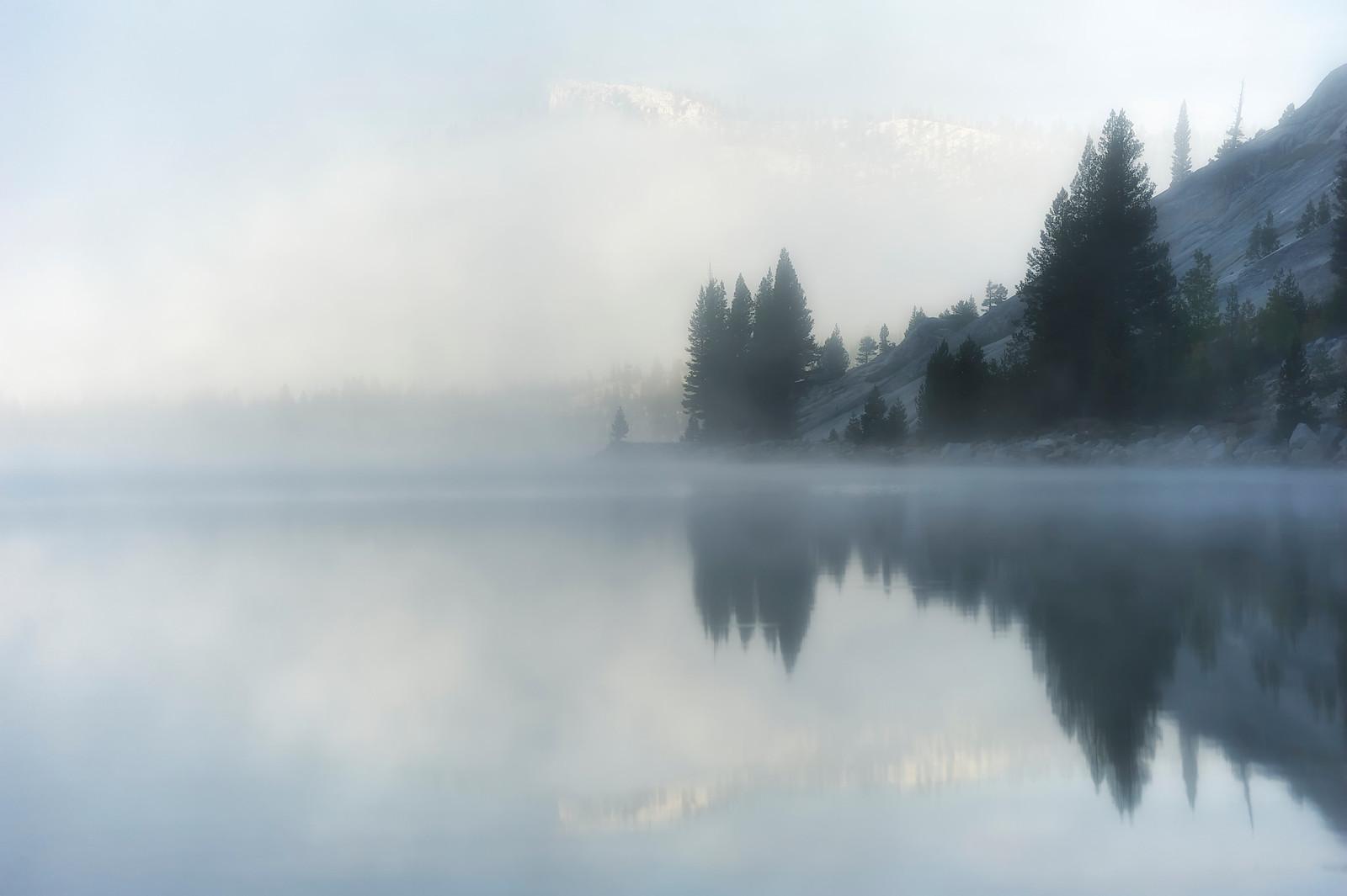 Tenaya Lake Fog, Yosemite, CA