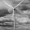 22  G Windmill and Clouds BW V