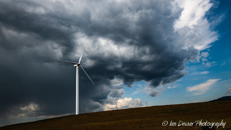 Storm over the Kittitas Valley Wind Farm