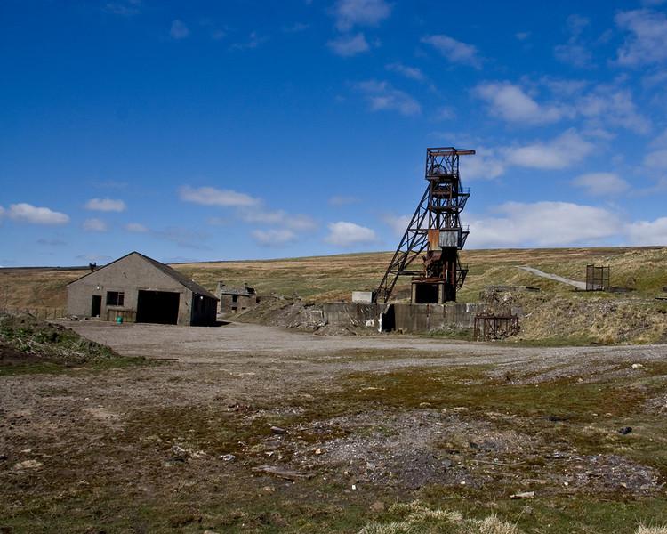 Groverake Fourspar mine (disused) Rookhope in Weardale