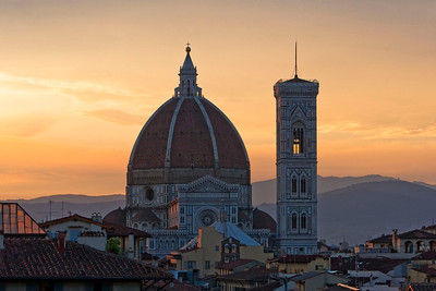 View of the Duomo at sunrise.