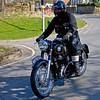 AJS motorbike in Lealholm in North Yorkshire