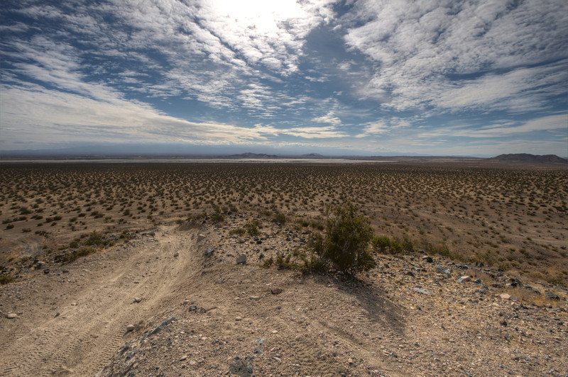 """Looking south toward El Mirage from 'Resurrection Hill' <a href=""""http://www.openstreetmap.org/?lat=34.6811664104462&layers=C&lon=-117.584545612335&zoom=15"""">http://www.openstreetmap.org/?lat=34.6811664104462&layers=C&lon=-117.584545612335&zoom=15</a>"""