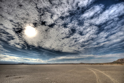 On the lake bed at El Mirage. The NW corner of the lake.