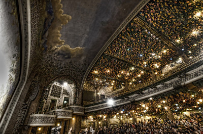 The Winter Garden Theatre, about 6-7 floors above the Elgin Theatre