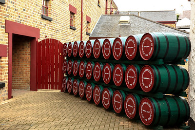 Irish whiskey at the Old Bushmills Distillery