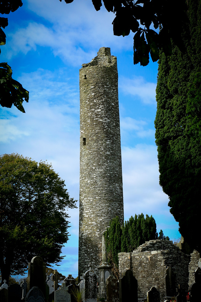Round tower at Monasterboice - 10th century AD