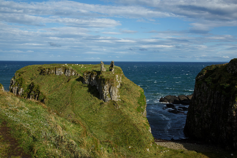 Dunseverick Castle - The North Coast of Ireland Original site was founded by Sobairce, 1150 BC Site was said to have been visited by St. Patrick
