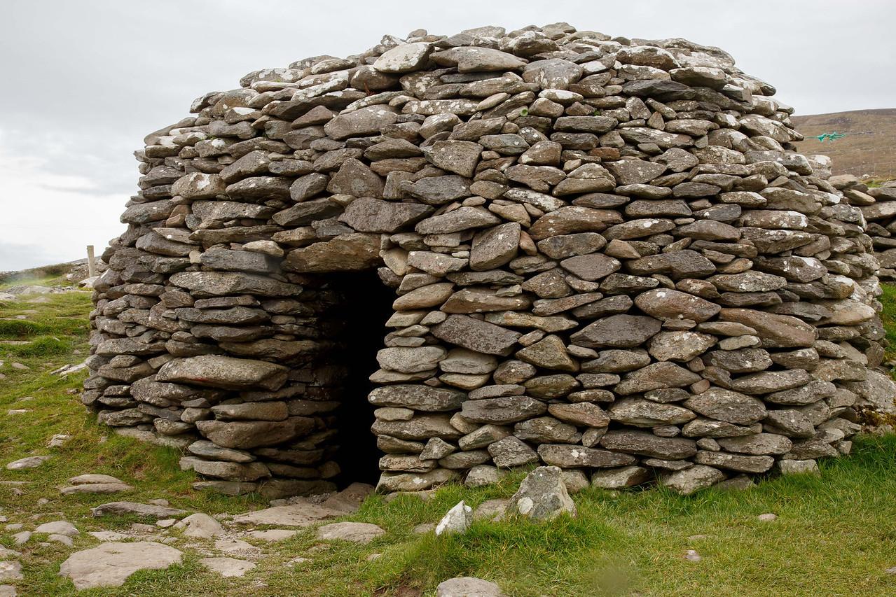 Beehive hut (clochams) on the Dingle Peninsula - Bronze Age