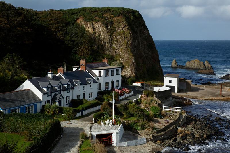 Village at Portbradden on the Antrim coast