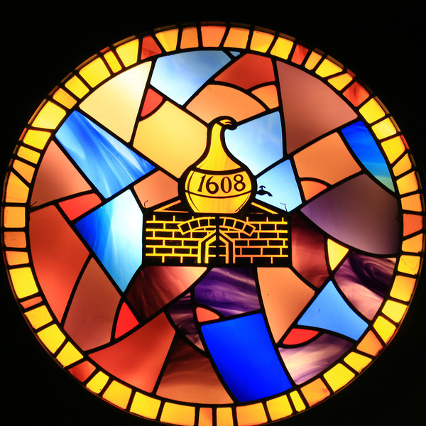 Stained glass window - The Old Bushmills Distillery Bushmills, Northern Ireland