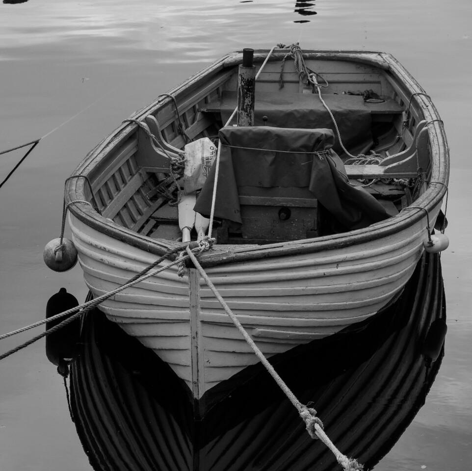 Row Boat - Black & White study Cushendun - North East Coast of Ireland
