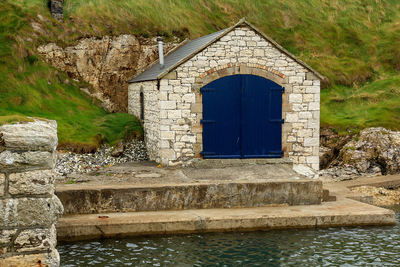 Old lime kiln service building at Ballintoy