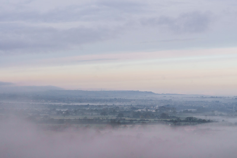 Misty morning from North Stoke