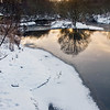 River Calder at winter