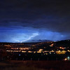 Lightning strike over Wainstalls, Halifax. Taken from Boulderclough, Sowerby.