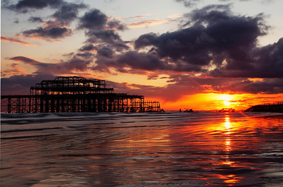 Fiery Sunset, Brighton Pier