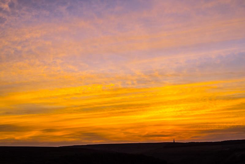 Stoodley Pike Sunset