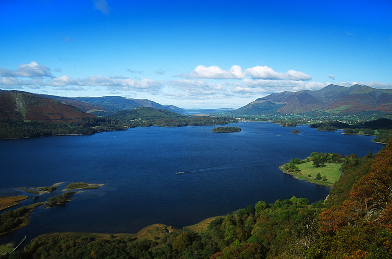 Derwent Water in the English Lakes