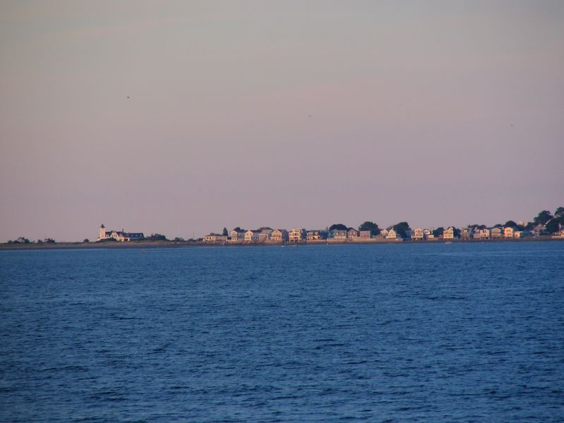 Nahant, Coast Guard station on left and Big Nahant on right (taken from Revere Beach)