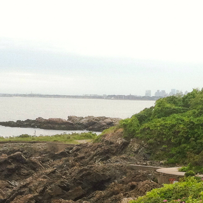 East Point Coastal Defense area.<br /> <br /> The Boston skyline in the background.