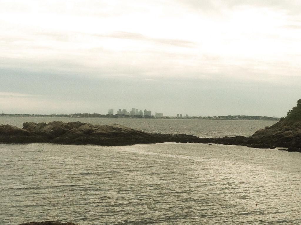 East Point Coastal Defense area.<br /> <br /> Boston skyline.
