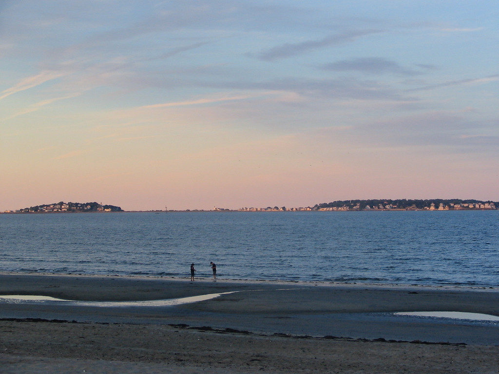 Nahant - Little Nahant and Big Nahant taken from Revere Beach