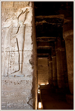 Temple of Seti I wall relief..Abydos, Egypt