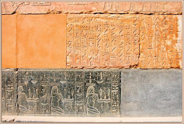 Wall Markings on the Red Chapel of Hatshepsut at Karnak